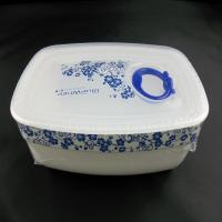 Wholesale OEM / ODM customed design white rubber mixing bowls / silicone lunch box for dishwasher, microwave, oven and freezer from china suppliers