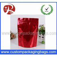 Wholesale Stand up Aluminum Foil Pouches With Zipper / Aluminum Foil Zip Lock Pouches from china suppliers