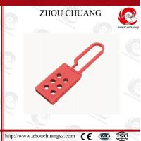 Wholesale Flexible Push Open  8 Holes Red Nylon Safety  Lockout Hasp For  Lock from china suppliers