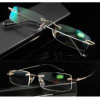 Wholesale Rimless Memory Titanium Reading Glasses Reader With Coating from china suppliers