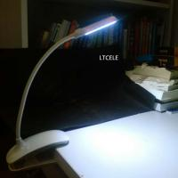 Wholesale Flexible Clip On 7 LED Book Light Reading Lamp White Bright Dual Arms Clip luminaria de mesa Flexible Lamp from china suppliers