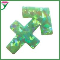 Wholesale Wholesale price OP11 green sagittarius fire man-made opal loose stone from china suppliers