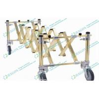 Wholesale Golden Foldable Aluminum Alloy Funeral Equipment Coffin Trolley with Castor Brake from china suppliers
