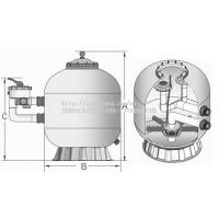 China Side-Mount Swimming Pool Sand Filters (certificated by ISO9001,CE Approval) on sale