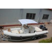 Wholesale 28 Ft 850cm Cm PVC Inflatable Boat , Rib Inflatable Boat With Big Sunbathe Panel from china suppliers