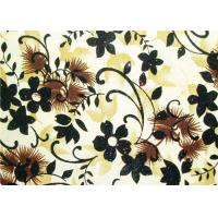 Wholesale Beautiful Floral Flocked Fabric , Mattress / Toy / Clothes Fabrics from china suppliers
