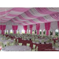 Wholesale 300 People Luxury Wedding Tents Rentals Aluminium Frame Marquee With Transparent PVC Windows from china suppliers