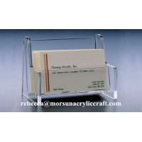 Wholesale Acrylic Business Card Case Transparent Plexiglass Name Card Holder from china suppliers
