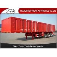 Wholesale 12.5 m steel tri axles box semi trailer transport engine waterproof from china suppliers