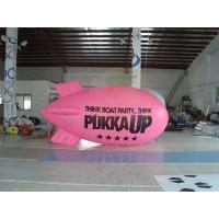 Wholesale Inflatable Advertising Helium Zeppelin , Openning Events Pink PVC Inflatables from china suppliers