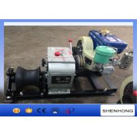 Wholesale 3 Ton Tower Erection Tools Cable Diesel Winch 4HP Single Capstan For Cable Pulling from china suppliers