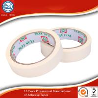 Wholesale White Flexible Masking Tape , Natural Rubber Adhesive Masking Paper Tape from china suppliers