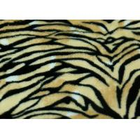 Wholesale Professional PV Plush Fabric With Tiger Pattern Design PV-112 from china suppliers