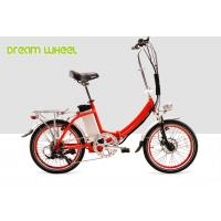 Wholesale Red Citizen Folding Electric Bike Lightweight 36V 250W 20 inch V brake from china suppliers
