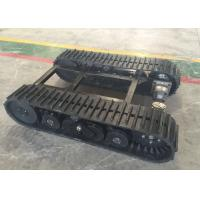China 60  Links Rubber Track Undercarriage 357kg Weight For Robot / Loader Machinery on sale