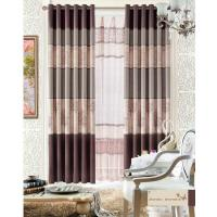 Custom Polyester Lace Contemporary Ready Made Curtains Insulated Blackout Window Curtain
