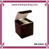 Buy cheap Dark brown paper cube box/Cosmetic makeup packaging paper box ME-CD044 from wholesalers