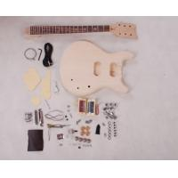 Wholesale Set In Neck DIY Electric Guitar Kits 3 Way Switch Guitar With Flamed Maple Veneered AG-DU2 from china suppliers