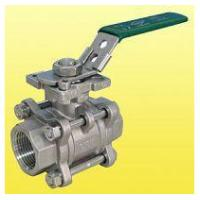 Quality ISO 5211 Locking Handle 3 Port Ball Valve Stainless Steel NPT Thread for sale