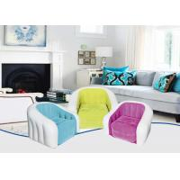 Quality Amazing Colored Inflatable Sofa Chair Flocking PVC Material 74X74X64 cm for sale