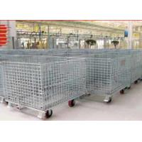 Wholesale Zinc - coated Wire Mesh Cages ,  Workshop Pallet Metal Front Drop Gate from china suppliers