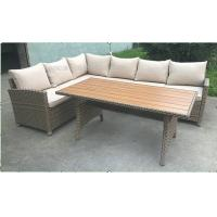 Wholesale Comfortable Outdoor Patio Sofa Set , L Shaped Outdoor Couch With Table from china suppliers