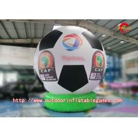 Buy cheap PVC HD Inkjet White And Black Inflatable Model Football Model Beach Advertising Balloons from wholesalers
