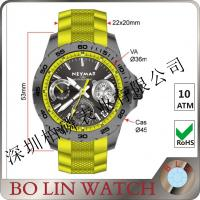 Wholesale 45mm Date Working Carbon Fiber Watches Quartz Matching Colors Band from china suppliers