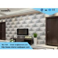 Wholesale Gray Modern Removable Wallpaper ,  3D Effect Geometric Modern Wallpaper from china suppliers
