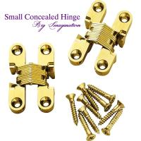 Wholesale cupboard small concealed hinge SOSS Invisible Hinge Jewelry Box Hinge from china suppliers