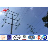 Wholesale Multi Sided Single Circuit Electrical Power Pole 4mm Electric Steel Pole from china suppliers