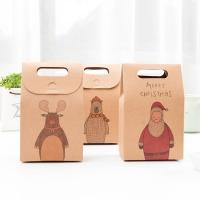 Wholesale High-Quality Christmas Stocking Candy Kraft Gift Packaging Small Brown Paper Bags from china suppliers