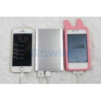 Wholesale Mobile Portable USB Power Bank With Dual USB , Polymer Batteries 6000mAh from china suppliers