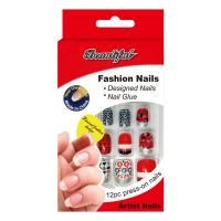 Buy cheap Sliver safe fake nails / natural looking elegant fake nails For Kids from wholesalers