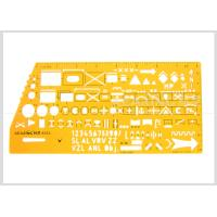 Wholesale Kearing Brand Transparent yellow color military stencil  for operational command #8353 from china suppliers