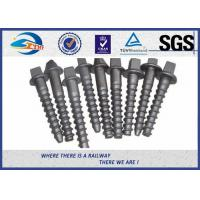 Wholesale Railway sleeper fixing screws Black Oxide ISO 24 Dia 160 Length SS8 from china suppliers