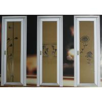 Wholesale 1.0mm - 1.2mm profile thickness wood grain aluminum hinged doors with single, double doors from china suppliers