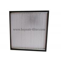 Quality Aluminum Foil Pleat Hepa Air Filters For Air Conditioning Filtration System for sale