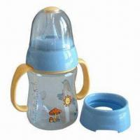 Wholesale Plastic Baby's Bottle, Wide Diameter for Easier Cleaning and Filling, Available in Various Designs from china suppliers