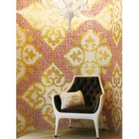 Buy cheap Glass mosaic wall tiles luxury gold mosaic pattern for living room decoration from wholesalers