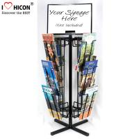 Wholesale Free Standing Rotating Retail Display Fixtures With Metal Brochure Display Rack from china suppliers