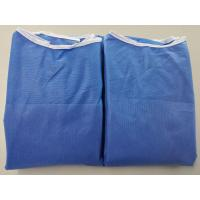 Wholesale Anti Dust Blue Disposable Hospital Gowns , Safety Protective Clothing from china suppliers