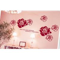 Wholesale Red flower Non-Toxic Removable PVC Removable Wall Sticker A0121 from china suppliers