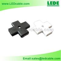 Buy cheap RGB LED Flexible Strip Cross + Type Connector from wholesalers