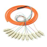 Wholesale Orange 12 core SC UPC optical fiber patch cord with CE , multimode fiber patch cord from china suppliers