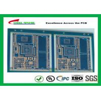 Wholesale Blue Solder Mask GPS PCB 6 Layer FR4TG150 1.6MM Immersion Gold Half Holes from china suppliers