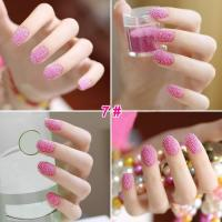 Wholesale Simple Pink Glass Pearl Nail Salon Pretty Glitter Artificial Nail Art from china suppliers