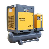7-20HP Electric Tank Mounted Combined Screw Air Compressor With Air Dryer for sale