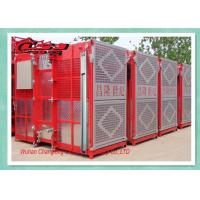 Wholesale Twin Cage Personel Materials Construction Elevator , Builders Buck Hoist Elevator from china suppliers