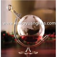 Wholesale Glass Decanters Etched Globe Decanter from china suppliers